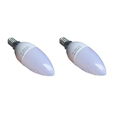 E14 LED-kaarslampen C35 8 leds SMD 3022 Warm wit 420lm 3000K AC 220-240V