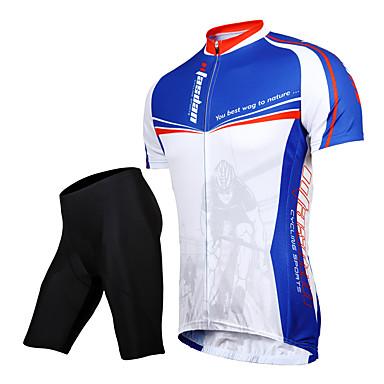 TASDAN Herre Kortermet Sykkeljersey med shorts - Svart Sykkel Shorts Jersey Klessett, 3D Pute, Fort Tørring, Pustende, Svettereduserende,