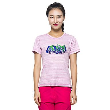 Dame T-skjorte til turbruk Vanntett Fort Tørring Ultraviolet Motstandsdyktig Fukt Gjennomtrengelighet Støvtett Anti-Insekt Anti-Stråling