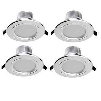 YouOKLight 4stk 3 W 300 lm Innfelt lampe 6 LED perler SMD 5730 Dekorativ Varm hvit / Kjølig hvit 85-265 V / 4 stk. / RoHs / 90