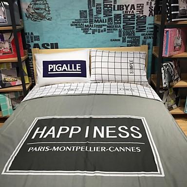 Bettbezug-Sets Neuartig 4 Stück Baumwolle Reaktivdruck Baumwolle 1 Stk. Bettdeckenbezug 2 Stk. Kissenbezüge 1 Stk. Betttuch