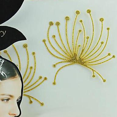 metallic papir kvinner gull / sølv for hår tatovering klistremerker