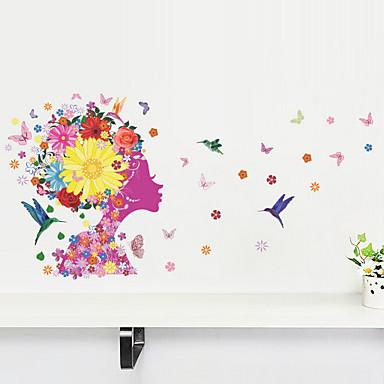 Blumen Wand-Sticker Flugzeug-Wand Sticker,PVC 50X70X0.1