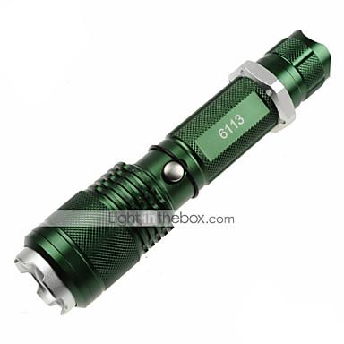 U'King ZQ-X913 Lanternas LED LED 1200lm 5 Modo Iluminação Zoomable / Foco Ajustável / Superfície Antiderrapante Campismo / Escursão / Espeleologismo / Uso Diário / Polícia / Militar Verde