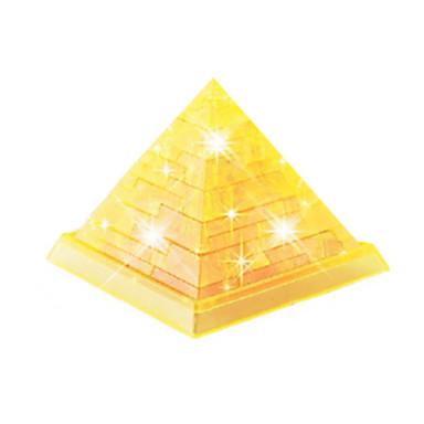 Blocos de Construir Quebra-Cabeças 3D Quebra-Cabeça Quebra-Cabeças de Cristal Torre Construções Famosas 3D Faça Você Mesmo Cristal ABS