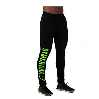 Miesten Juoksuhousut Nopea kuivuminen Hengittävä Puristus Stretch Pants Alaosat varten Jooga Kuntoilu Vapaa-ajan urheilu Juoksu Elastaani