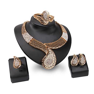 Mulheres Conjunto de jóias - Strass Personalizada, Vintage, Fashion Incluir Dourado Para Casamento / Festa / Ocasião Especial / Anéis / Bracelete