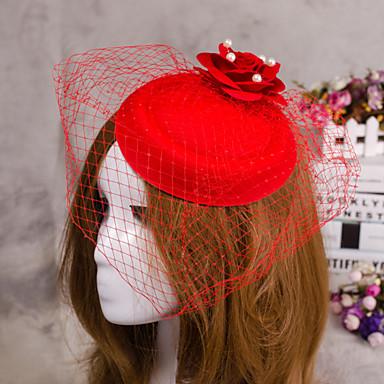 blomst fjær slør fascinator hat hår smykker for bryllup