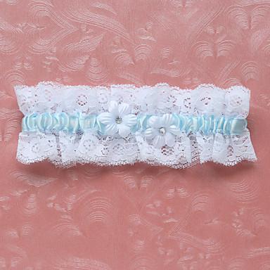 Polyester / Blonder Klassisk Bryllupsklær - Blonder / Blomst Strømpebånd
