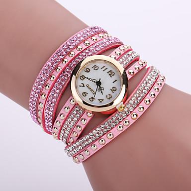 Damen Armband-Uhr Modeuhr Quartz Schlussverkauf Leder Band Blume Schwarz Weiß Blau Orange Braun Rosa