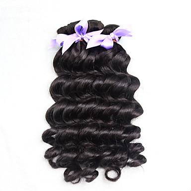 Menneskehår Vevet Brasiliansk hår Løse bølger 3 deler hår vever