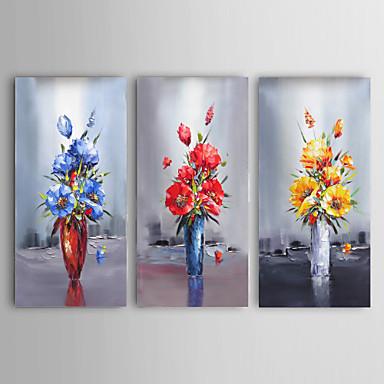 Palettenmesser Kunst Kunst Ölgemälde von Hand bemalt Blumenwanddekor Bild mit stretche Rahmen