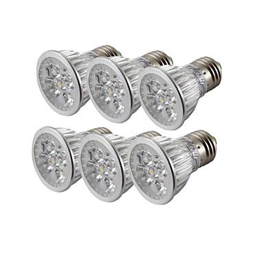 billige Elpærer-YouOKLight 6pcs 4 W LED-spotpærer 300-350 lm E26 / E27 R63 4 LED perler Høyeffekts-LED Mulighet for demping Dekorativ Varm hvit Kjølig hvit 85-265 V / 6 stk. / RoHs