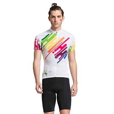 TASDAN Herrn Kurzarm Fahrradtriktot mit Fahrradhosen Fahhrad Shorts/Laufshorts Trikot/Radtrikot Kleidungs-Sets, Rasche Trocknung,