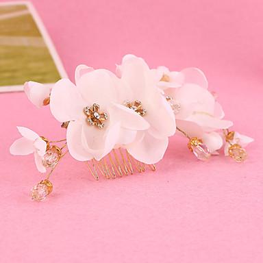 Damen Mädchen Strass Stoff Kopfschmuck-Hochzeit Besondere Anlässe Haarkämme Blumen 1 Stück