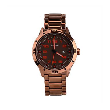 SINOBI Men's Quartz Wrist Watch Calendar / date / day Water Resistant / Water Proof Sport Watch Alloy Band Charm Rose Gold