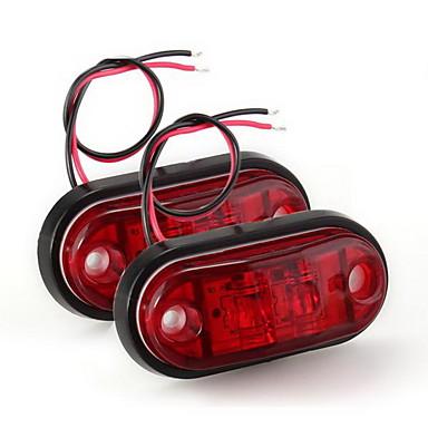 2 x Auto LKW-Anhänger Piranha LED-Seitenblinker Blinker Licht Lampe rot