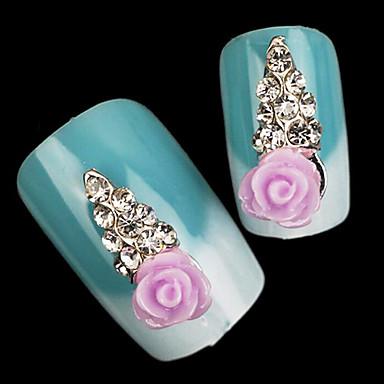 kaunis henkinen väri timantti ab porata Candy hartsi jäätelöä kynsien korut (5kpl)