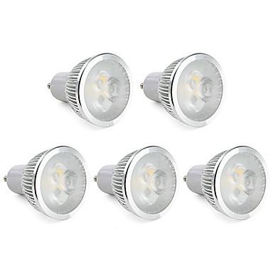 6W GU10 LED-spotlampen MR16 3 Krachtige LED 310 lm Warm wit Dimbaar AC 220-240 V 5 stuks