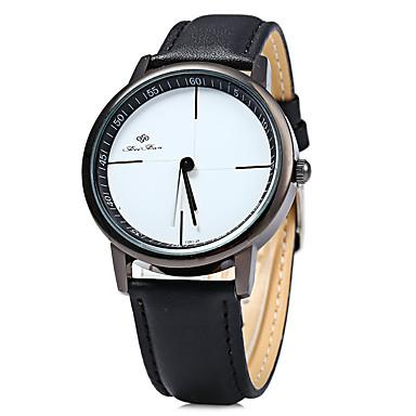 Damen Modeuhr Armbanduhren für den Alltag Quartz Armbanduhren für den Alltag Leder Band Schwarz Weiß Weiß Schwarz