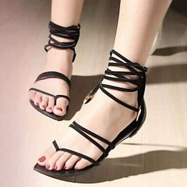 Žene Ljeto Udobne cipele Umjetna koža Formalne prilike Ležeran Ravna potpetica Crna