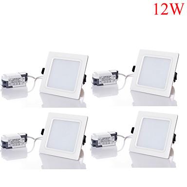12W LED Deckenstrahler 24pcs SMD 5730 1100-1200 lm Warmes Weiß / Kühles Weiß / Natürliches Weiß Dekorativ AC 85-265 V 4 Stück