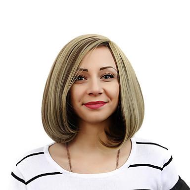 kortbølge bobo syntetiske parykker nyeste mote damer kuttet frisyre syntetiske parykker