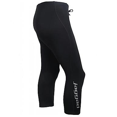 Jaggad Pánské Cyklo kalhoty - Černá Jezdit na kole 3/4 Tights / Kalhoty, Rychleschnoucí, Prodyšné, Reflexní pásky