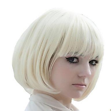 Synthetische Perücken Glatt Damen Kappenlos Kurz Synthetische Haare