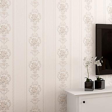 Streifen Haus Dekoration Moderne Wandverkleidung, Nicht-gewebtes Papier Stoff Klebstoff erforderlich Tapete, Zimmerwandbespannung