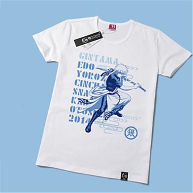 Inspiriert von Gintama Gintoki Sakata Anime Cosplay Kostüme Cosplay-T-Shirt Druck Kurzarm T-shirt Für Herrn Damen