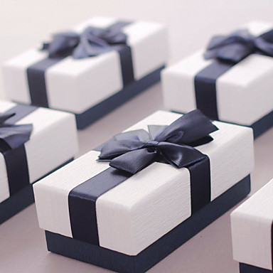 Kocka alakú Kártyapapír Favor Holder A Masni Ajándékdobozok
