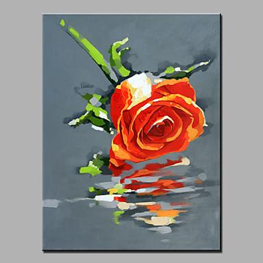 Kézzel festett Virágos / Botanikus Függőleges, Modern Vászon Hang festett olajfestmény lakberendezési Egy elem