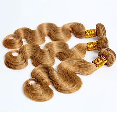 Περουβιανή Κυματομορφή Σώματος Υφάνσεις ανθρώπινα μαλλιών 3 Κομμάτια 0.3