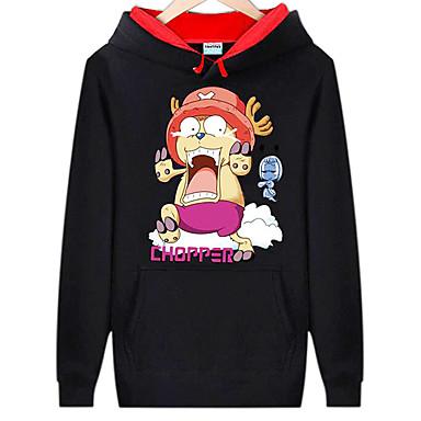 Inspiriert von One Piece Monkey D. Luffy Anime Cosplay Kostüme Cosplay Hoodies Druck Langarm Top Für Mann
