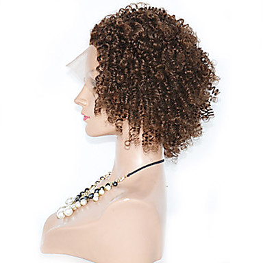 Cheveux humains Full Lace Dentelle frontale Perruque Bouclé 120% Densité 100 % Tissée Main Perruque afro-américaine Ligne de Cheveux