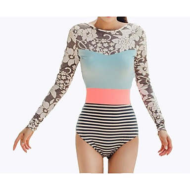 Damen Wasserdicht UV-resistant Atmungsaktiv Leichtes Material LYCRA® Taucheranzug Kleidungs-Sets-Schwimmen Tauchen SurfenFrühling Sommer