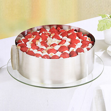 Bakeware-työkalut Ruostumaton teräs Kakku Koristeluväline 1kpl