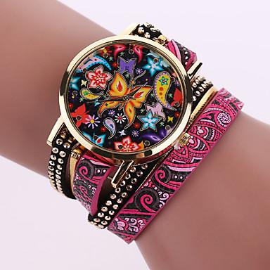Dámské Náramkové hodinky Hodinky na běžné nošení Kůže Kapela Cikánské / Módní Černá / Bílá / Modrá / Jeden rok / Tianqiu 377