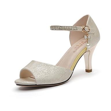 Sandaalit-Piikkikorko-Naisten kengät-Synteettinen-Kulta-Häät / Toimisto / Puku / Rento / Juhlat-Avokärkiset