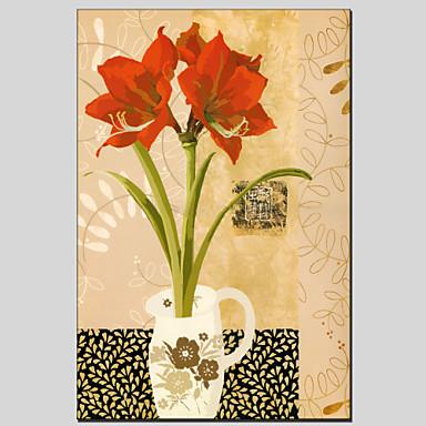 פרח חומר בסגנון בד ציורי שמן עם מסגרת מתוח מוכן לתלות גודל 60 * 90 ס