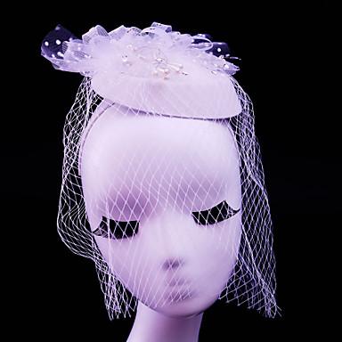Tüll Künstliche Perle Strass Baumwollflanell Netz Fascinatoren 1 Hochzeit Besondere Anlässe Normal Draussen Kopfschmuck