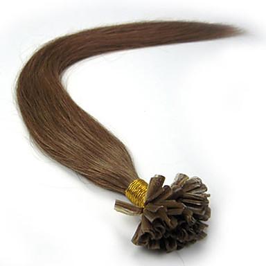 voordelige Extensions van echt haar-PANSY Samensmelten / U-tip Extensions van echt haar Recht Mensen Remy Haar Echt haar Braziliaans haar Licht blond