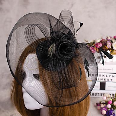 Satin fascinators Birdcage slør 1 Bryllup Spesiell Leilighet Hodeplagg
