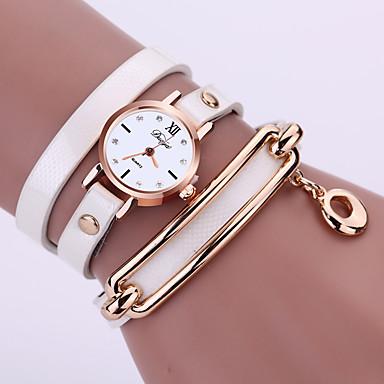 Damen Armband-Uhr Armbanduhren für den Alltag Legierung Band Glanz / Modisch Schwarz / Weiß / Blau