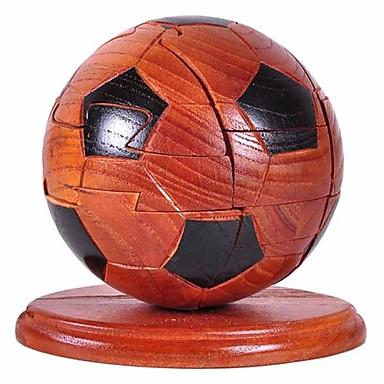 voordelige 3D-puzzels-Bouwblokken 3D-puzzels Ballen Voetbal Plezier Hout Klassiek Speeltjes Geschenk