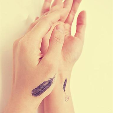 vedenpitävä väliaikainen tatuointi tarra sulka tatuointi toteemi vedensiirto väärennös tatuointi