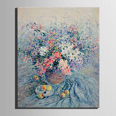 Pintados à mão Floral/Botânico Vertical, Estilo Europeu Tela de pintura Pintura a Óleo Decoração para casa 1 Painel