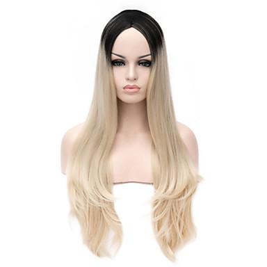 fashional ombre peruukki halpa muoti lämmönkestävä synteettinen naiskauneutta kaksiväriset peruukit