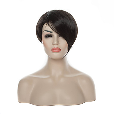 Top Quality Black 1B Color Short Straight Woman's Synthetic Wigs Hair